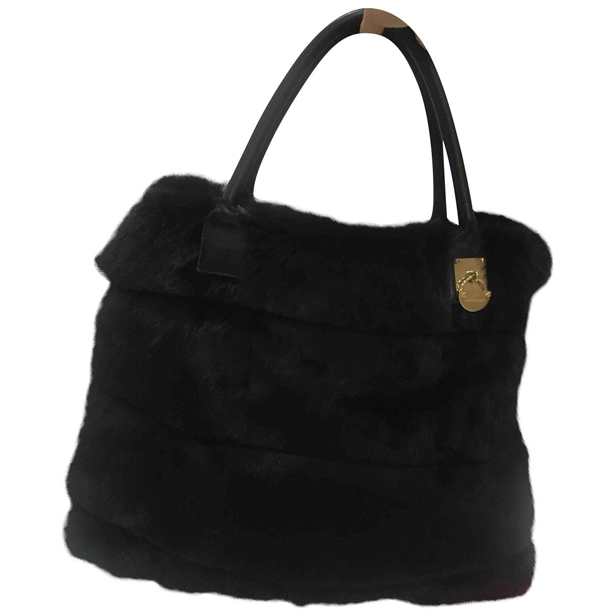 Elisabetta Franchi \N Black Faux fur handbag for Women \N