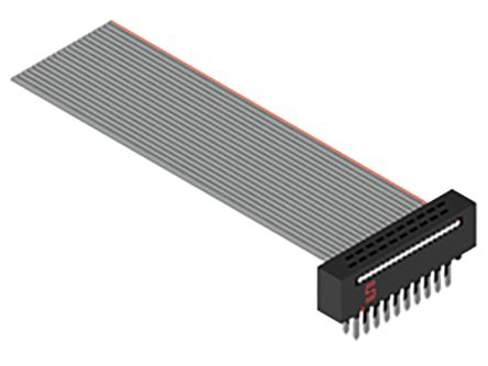 Samtec FFMD Ribbon Cable Assembly, IDC Plug to IDC Socket, 152.4mm