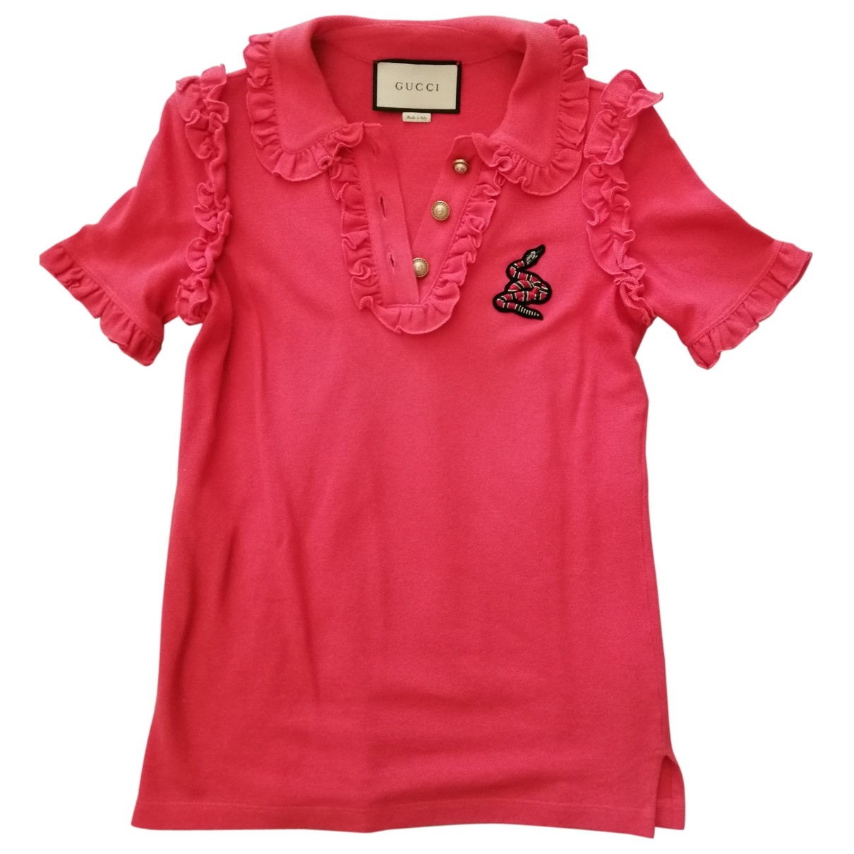 Gucci \N Pink Cotton  top for Women 32 FR