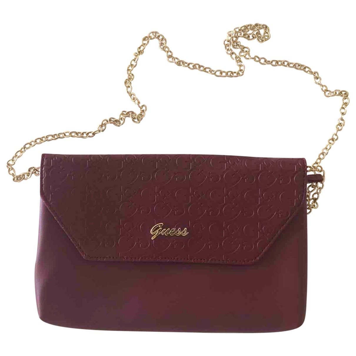 Guess \N Burgundy Leather Clutch bag for Women \N