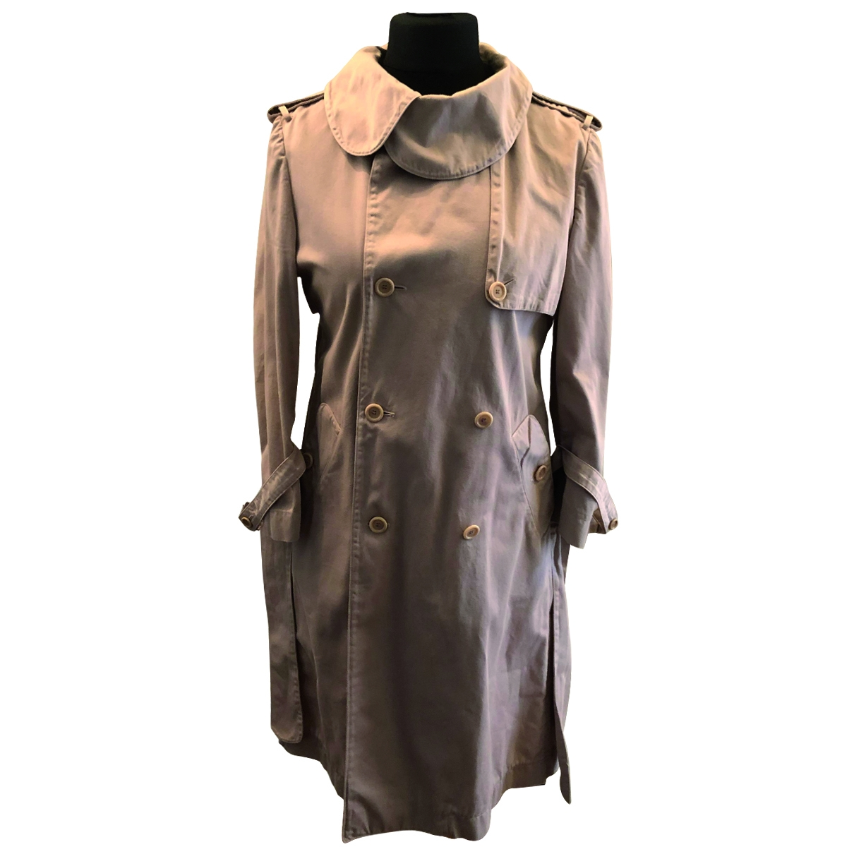 Marni \N Pink Cotton Trench coat for Women 46 IT