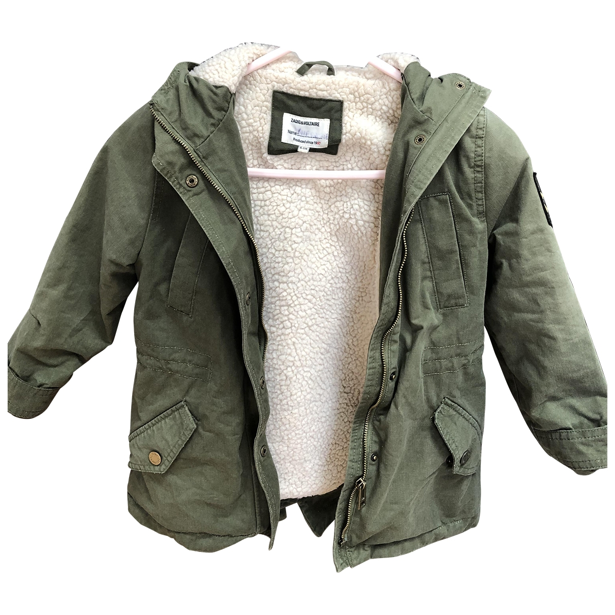 Zadig & Voltaire \N Khaki Faux fur jacket & coat for Kids 6 years - up to 114cm FR