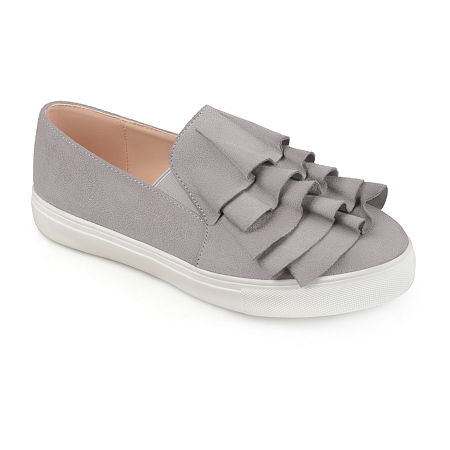 Journee Collection Womens Glint Slip-On Shoe, 7 1/2 Medium, Gray