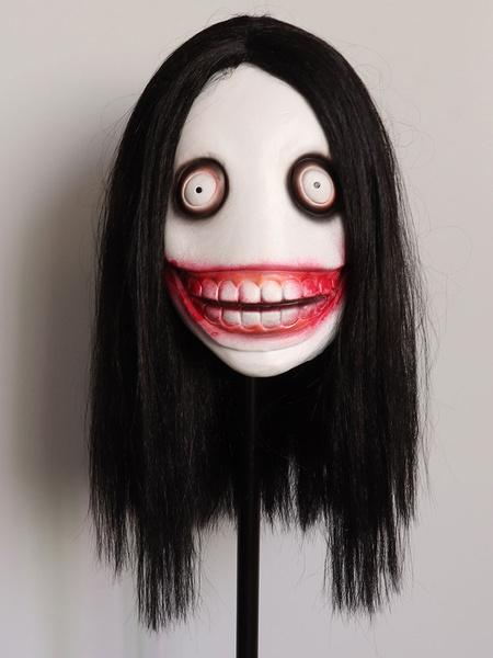 Milanoo Jeff The Killer Monster Urban Legends Halloween Costume Mask Headwear