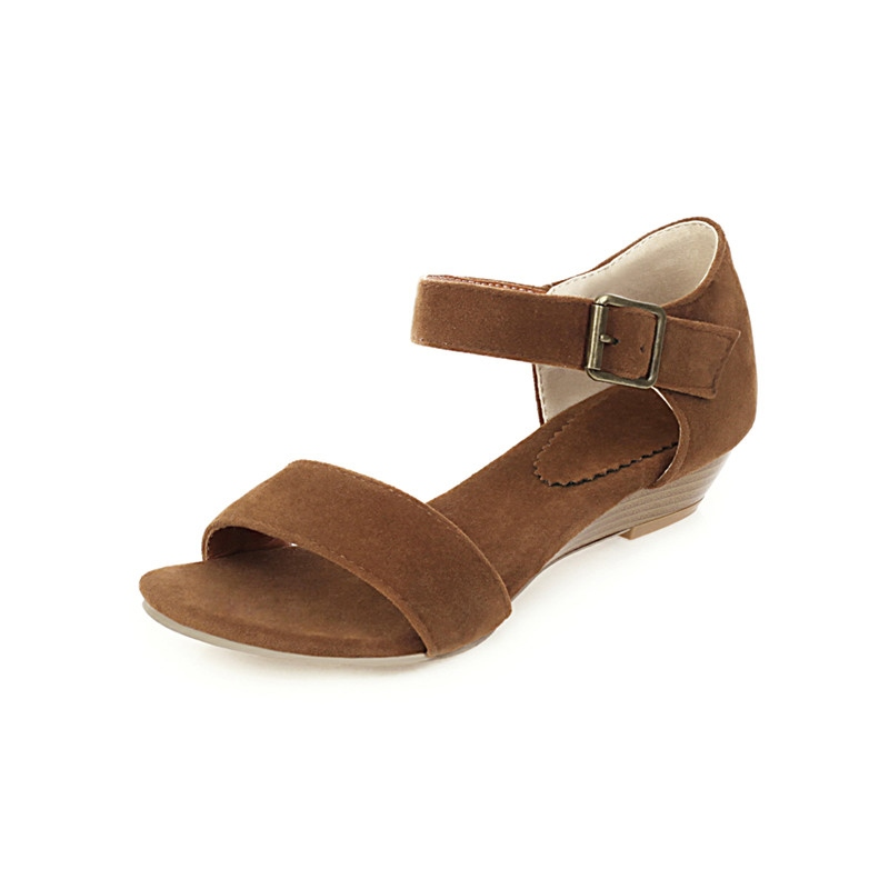 Ericdress Heel Covering Block Heel Open Toe Thread Sandals