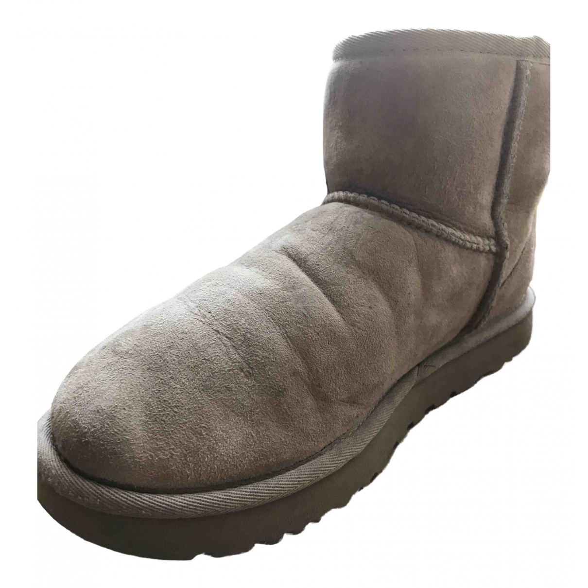 Ugg \N Camel Shearling Ankle boots for Women 39 EU