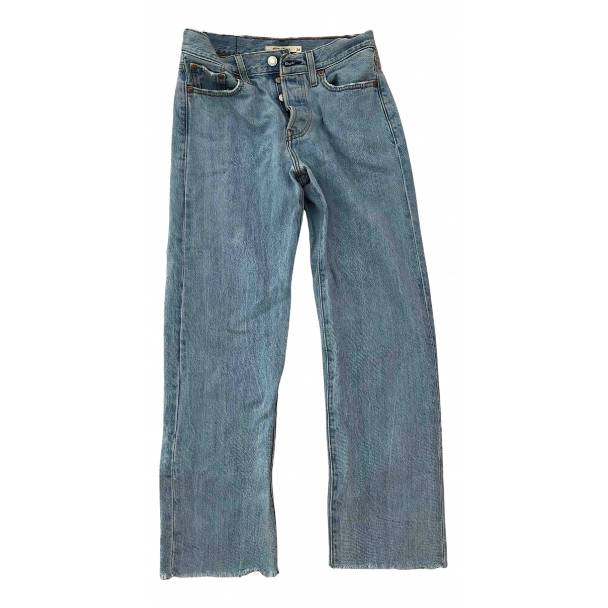 Levi's \N Blue Cotton Jeans for Women 26 US