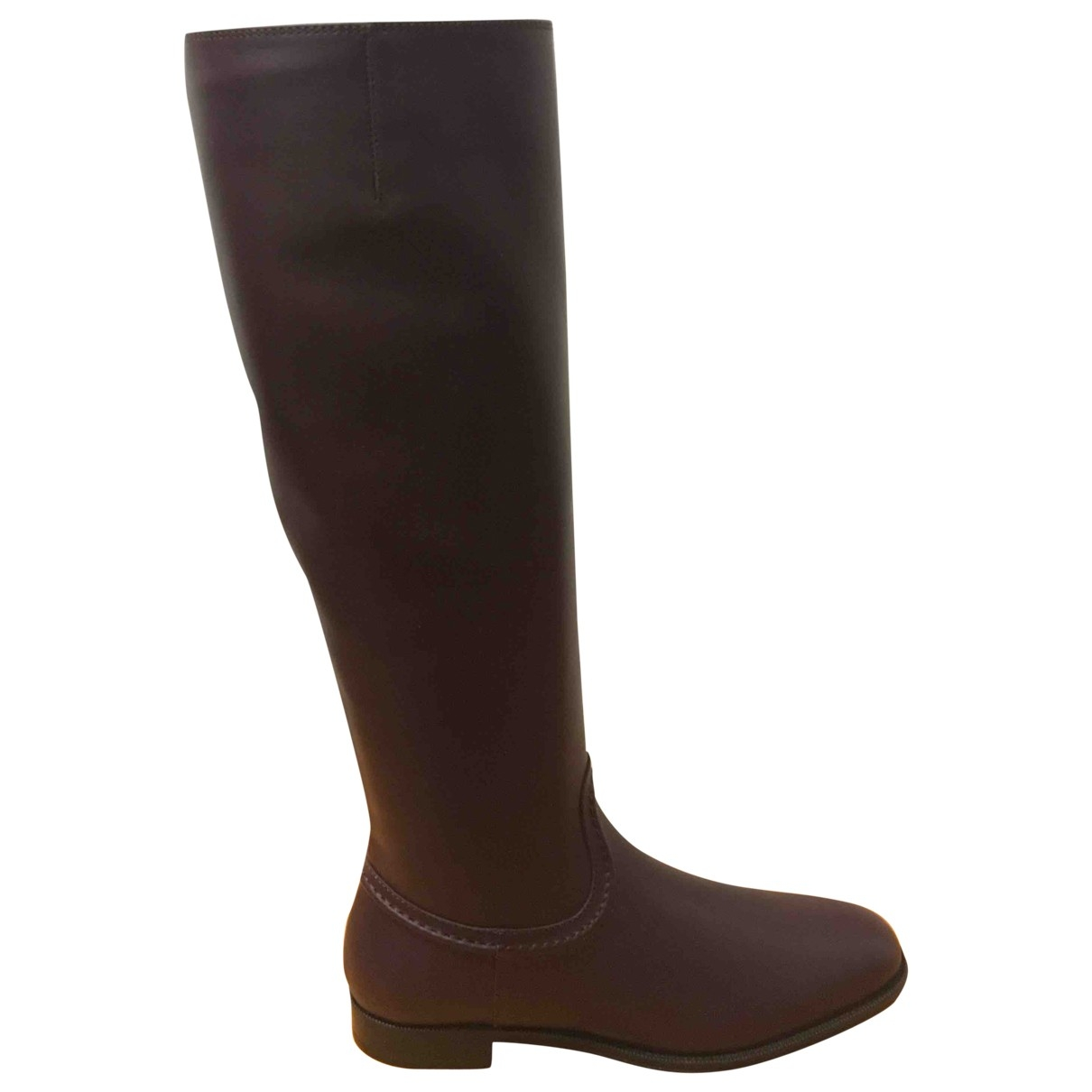 Tod's \N Purple Leather Boots for Women 37 EU