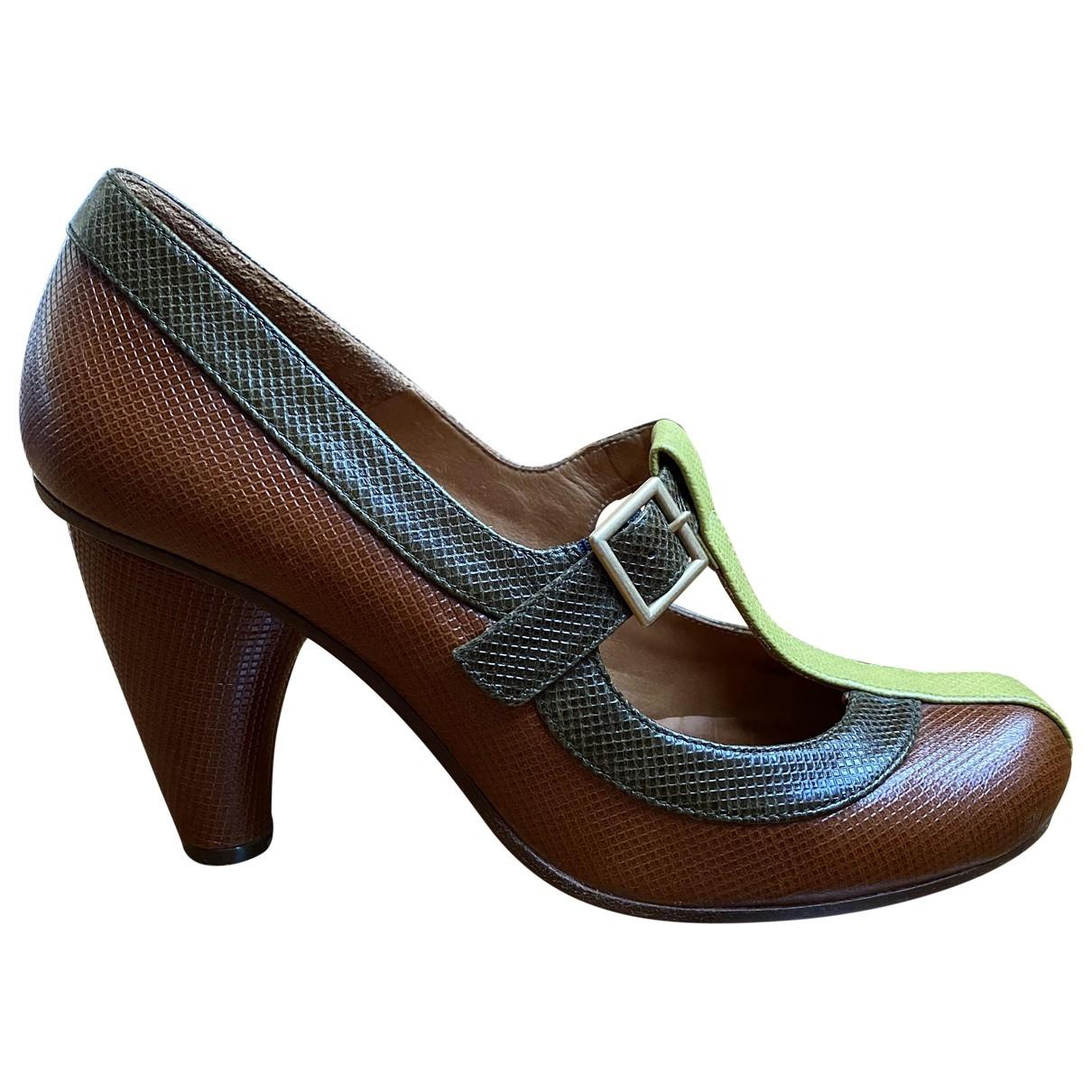 Chie Mihara \N Brown Leather Heels for Women 38 EU