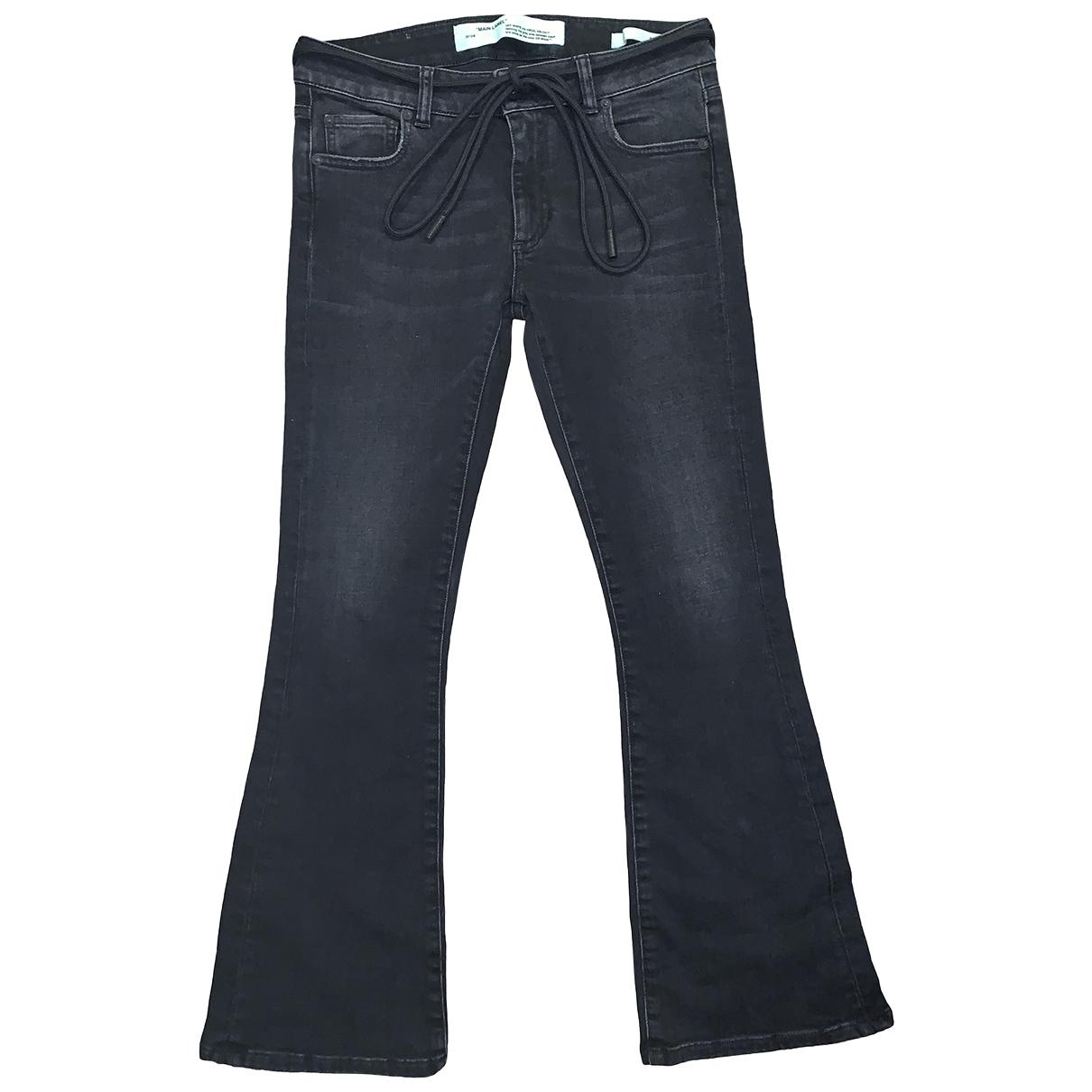 Off-white \N Black Denim - Jeans Jeans for Women 28 US