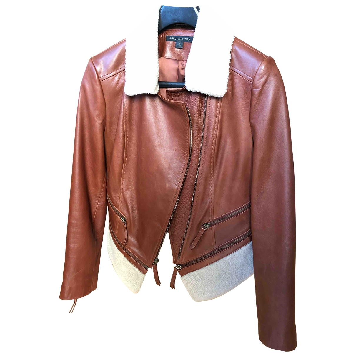 Non Signé / Unsigned \N Brown Leather Leather jacket for Women S International