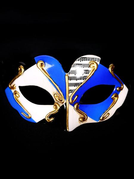 Milanoo Masquerade Costume Accessories Color Block Gilding Carnival Halloween Costume Covering