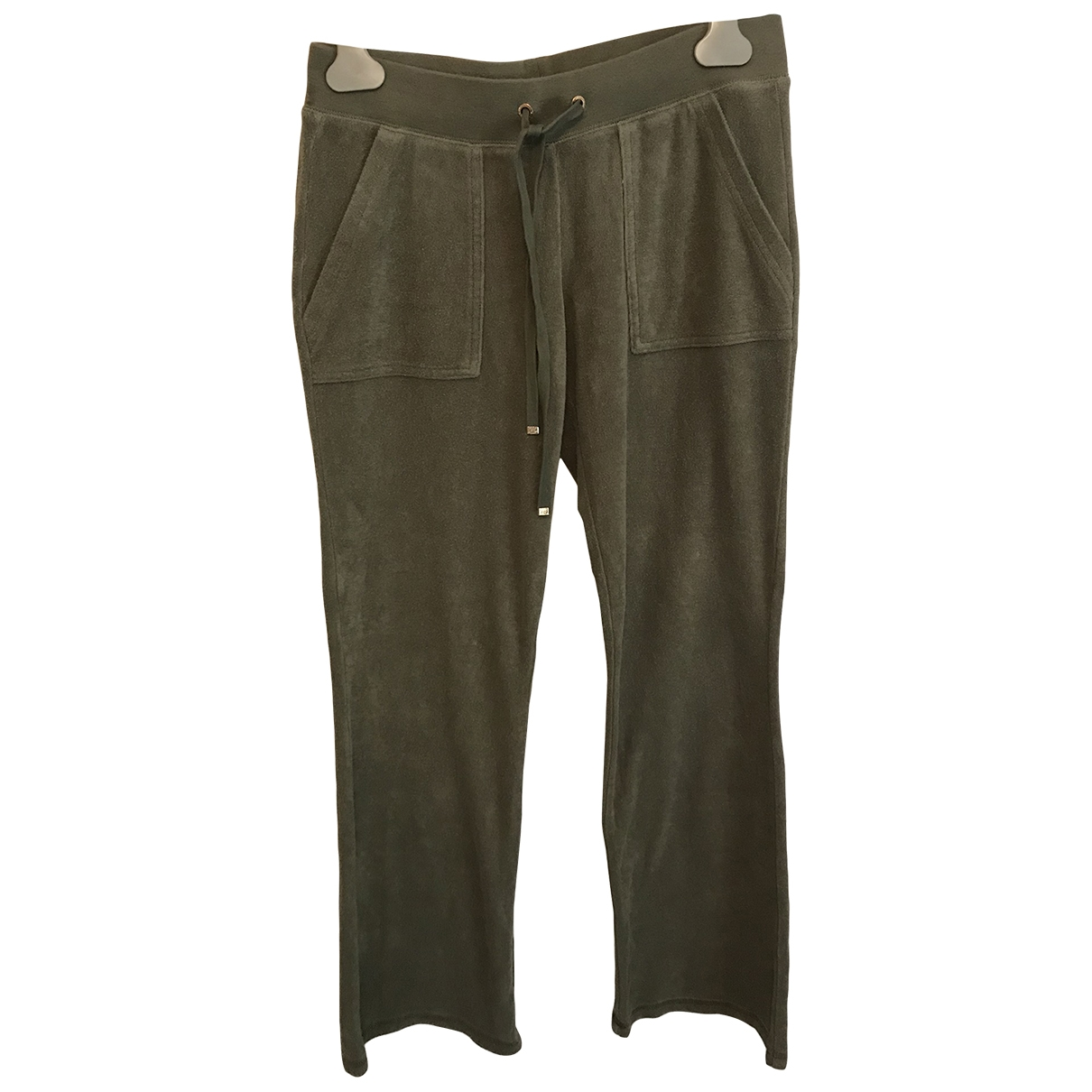 Juicy Couture \N Khaki Cotton Trousers for Women XS International