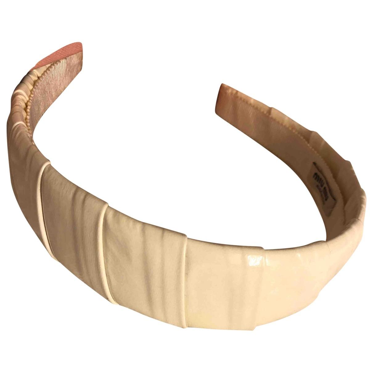Miu Miu \N White Leather Hair accessories for Women \N