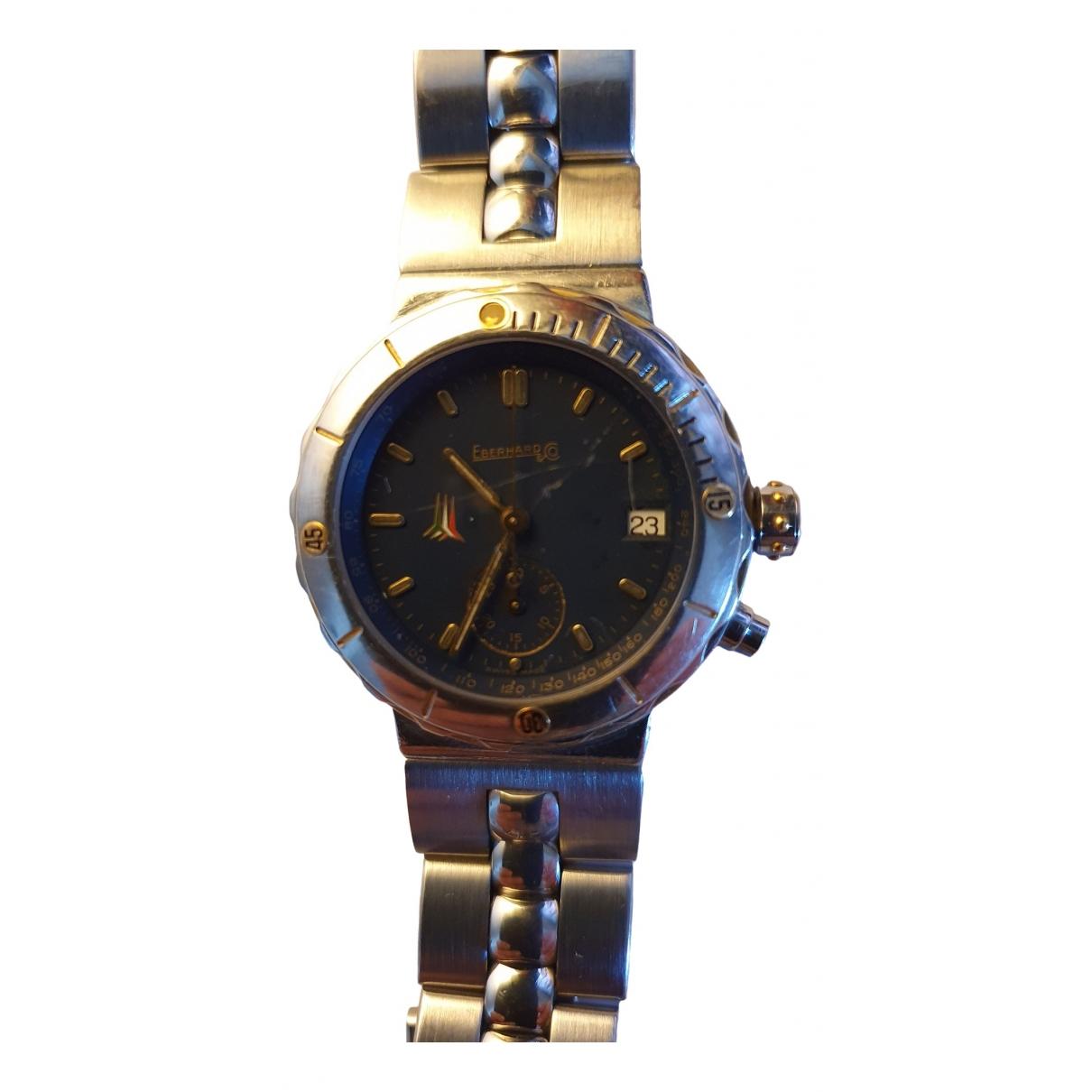 Eberhard \N Silver Steel watch for Women \N