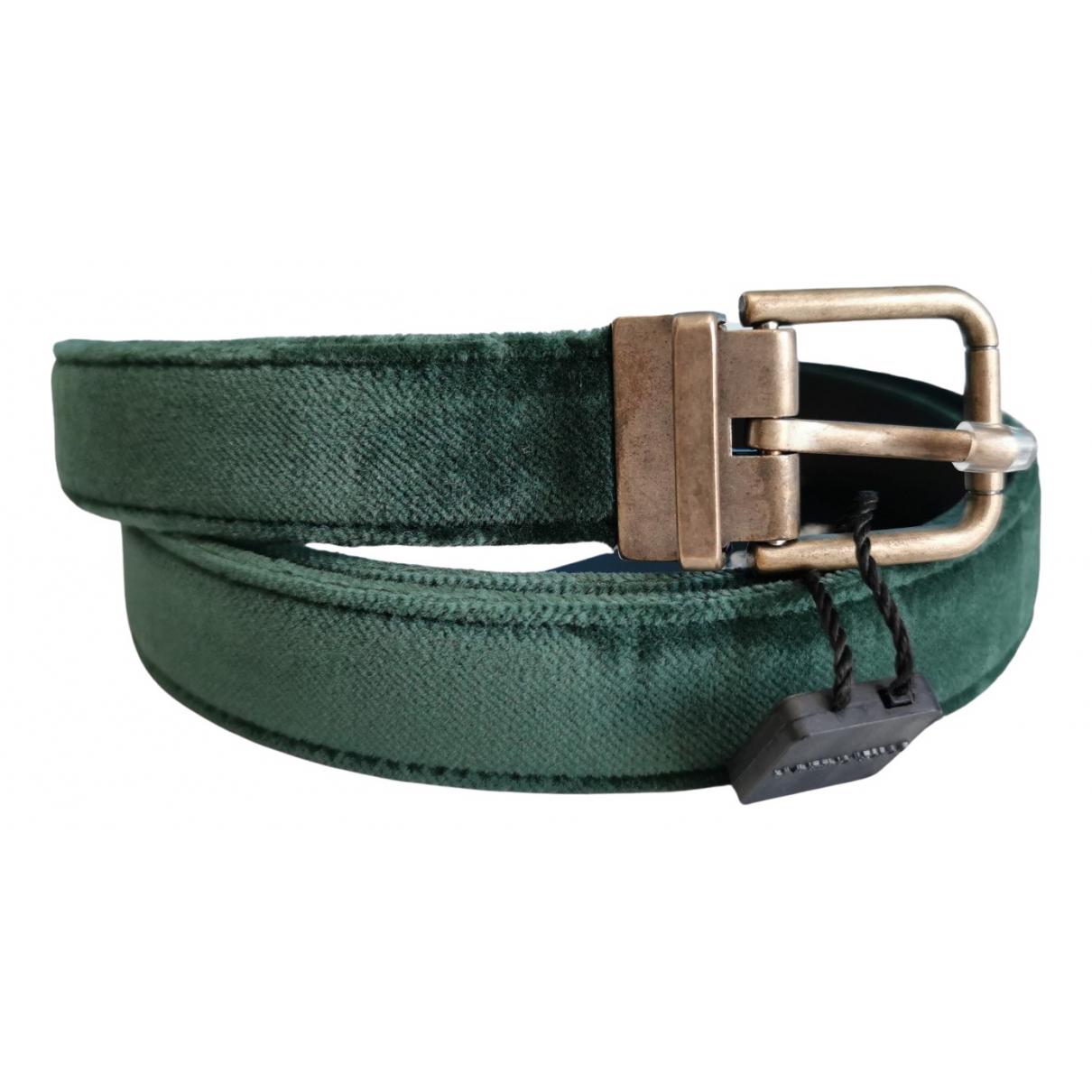 Dolce & Gabbana \N Green Velvet belt for Women L