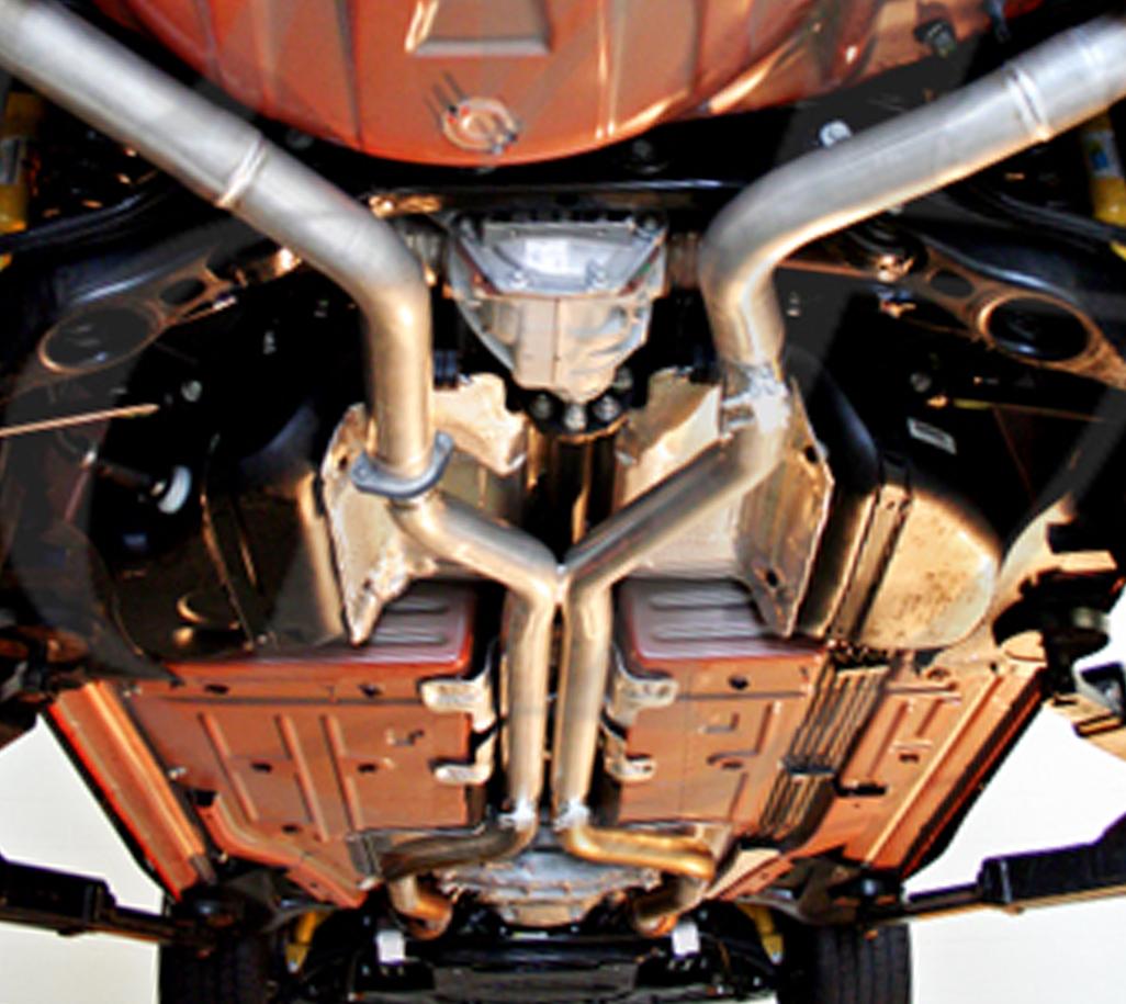 Meisterschaft DD0133001 Stainless Steel Section 2 Catback X-Pipe Resonator Delete Dodge Challenger SRT Hellcat 2015