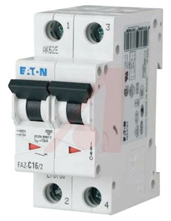 Eaton xEffect 13 A MCB Mini Circuit Breaker, 2P Curve C
