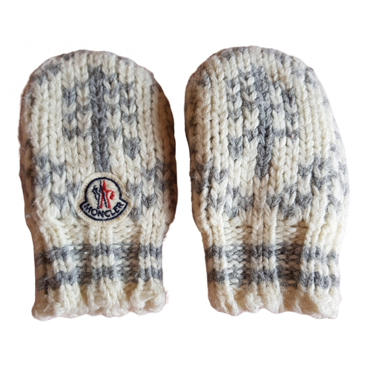 Moncler \N White Wool hat & Gloves for Kids \N