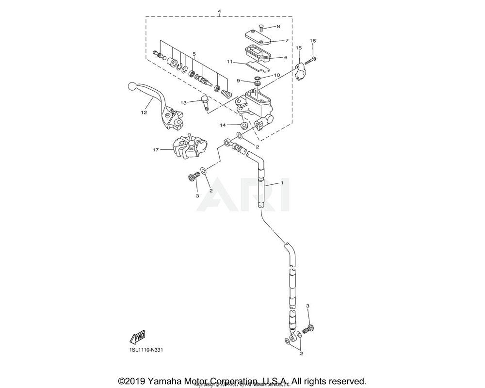 Yamaha OEM 5XC-25852-G0-00 CAP, RESERVOIR