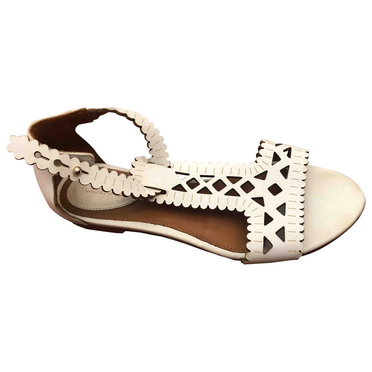 Chloé \N White Leather Sandals for Women 35 EU