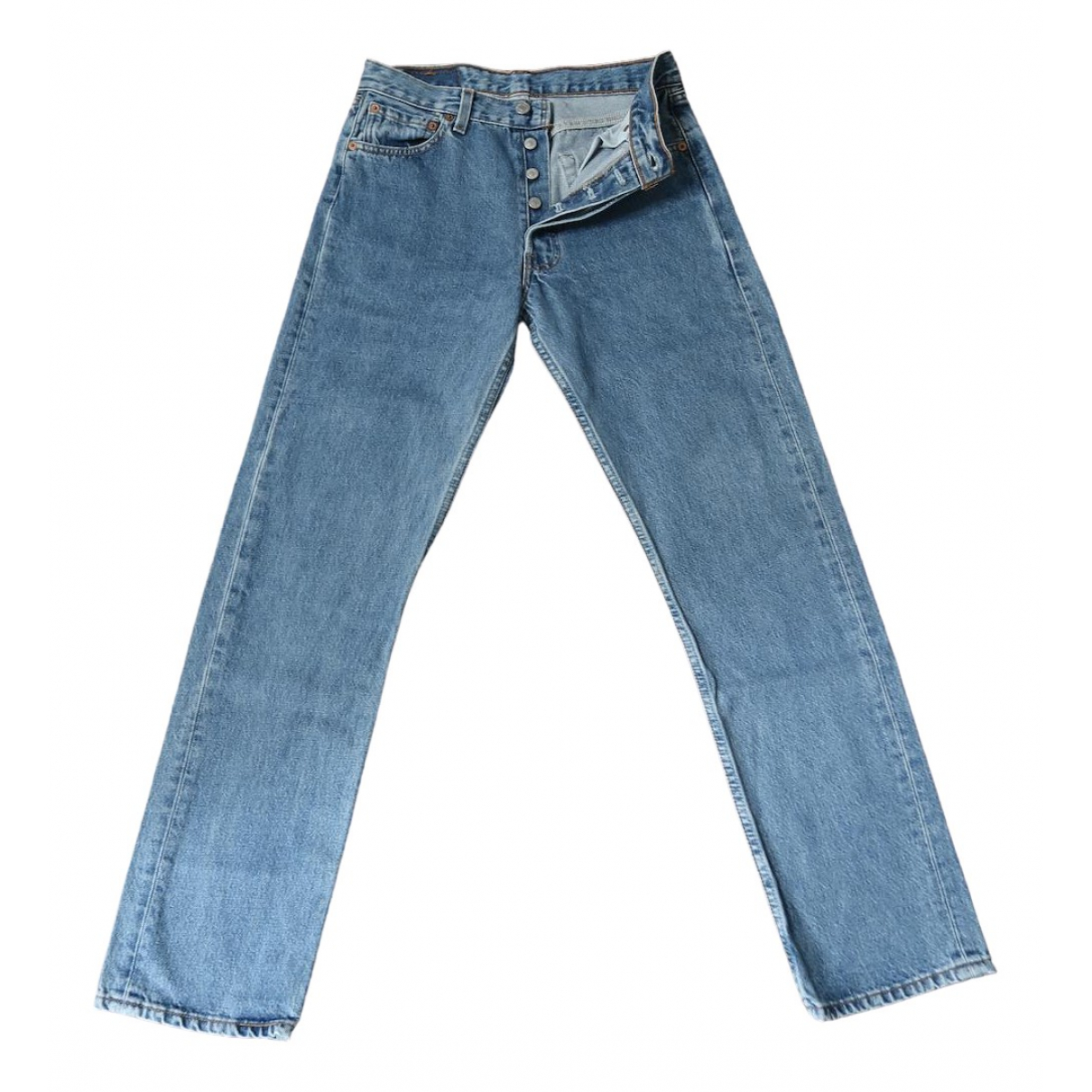 Levi's Vintage Clothing \N Blue Cotton Jeans for Women 38 FR