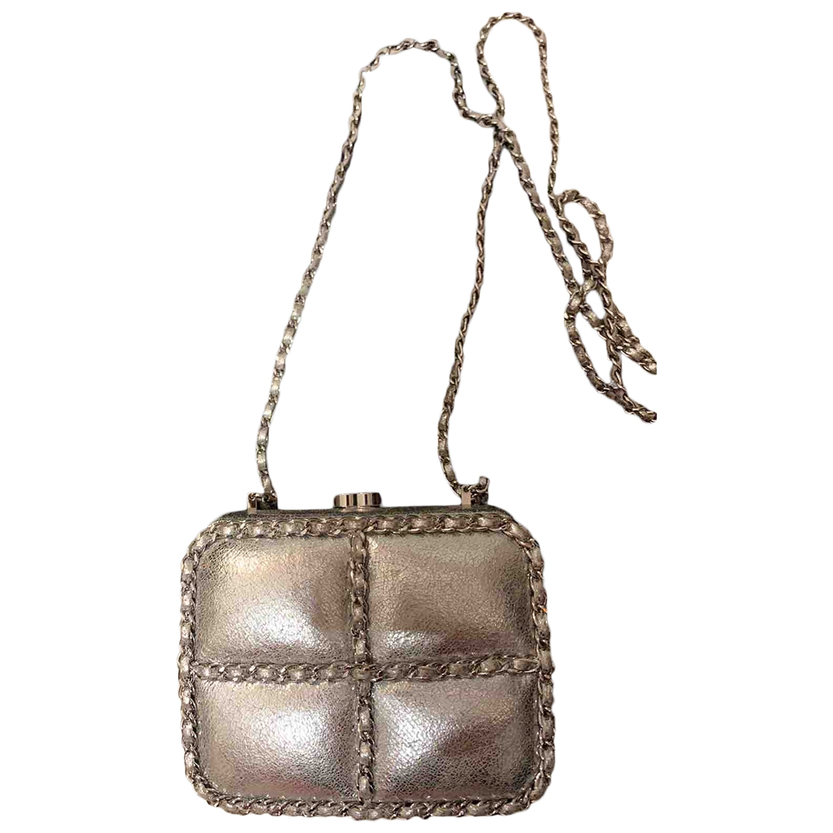 Chanel \N Silver Leather Clutch bag for Women \N