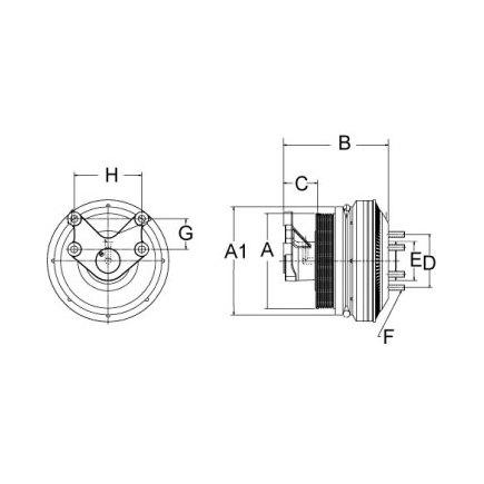 Horton 799233 - Clutch Drive Master Se 21 Reman,8 Pk/1 V Grv,158.0 O
