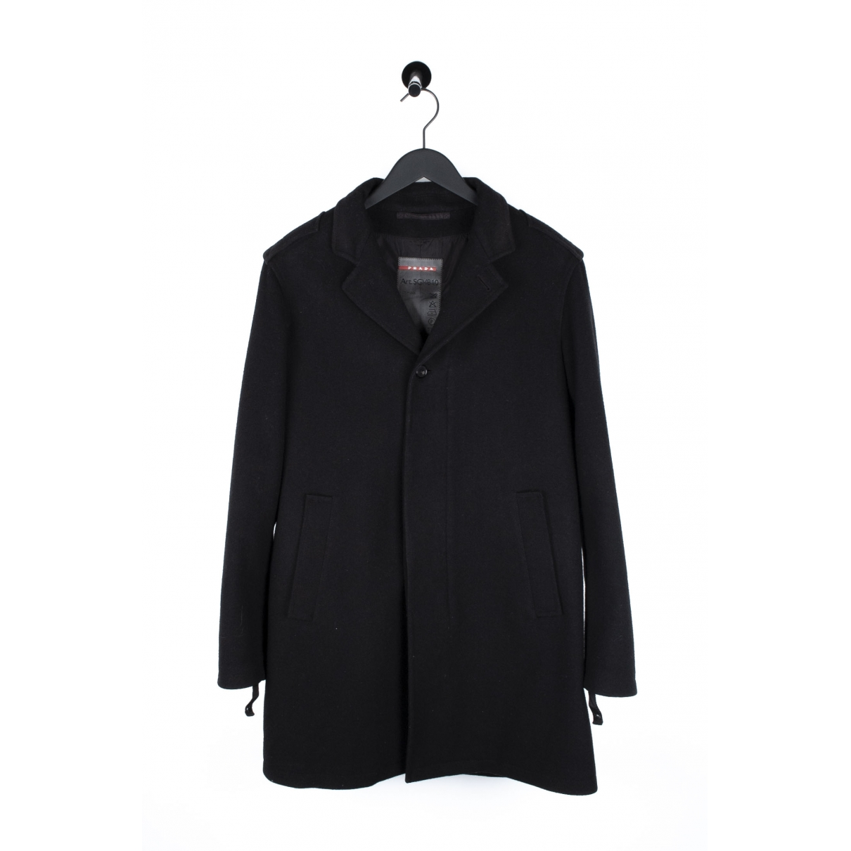 Prada \N Black Wool coat  for Men L International
