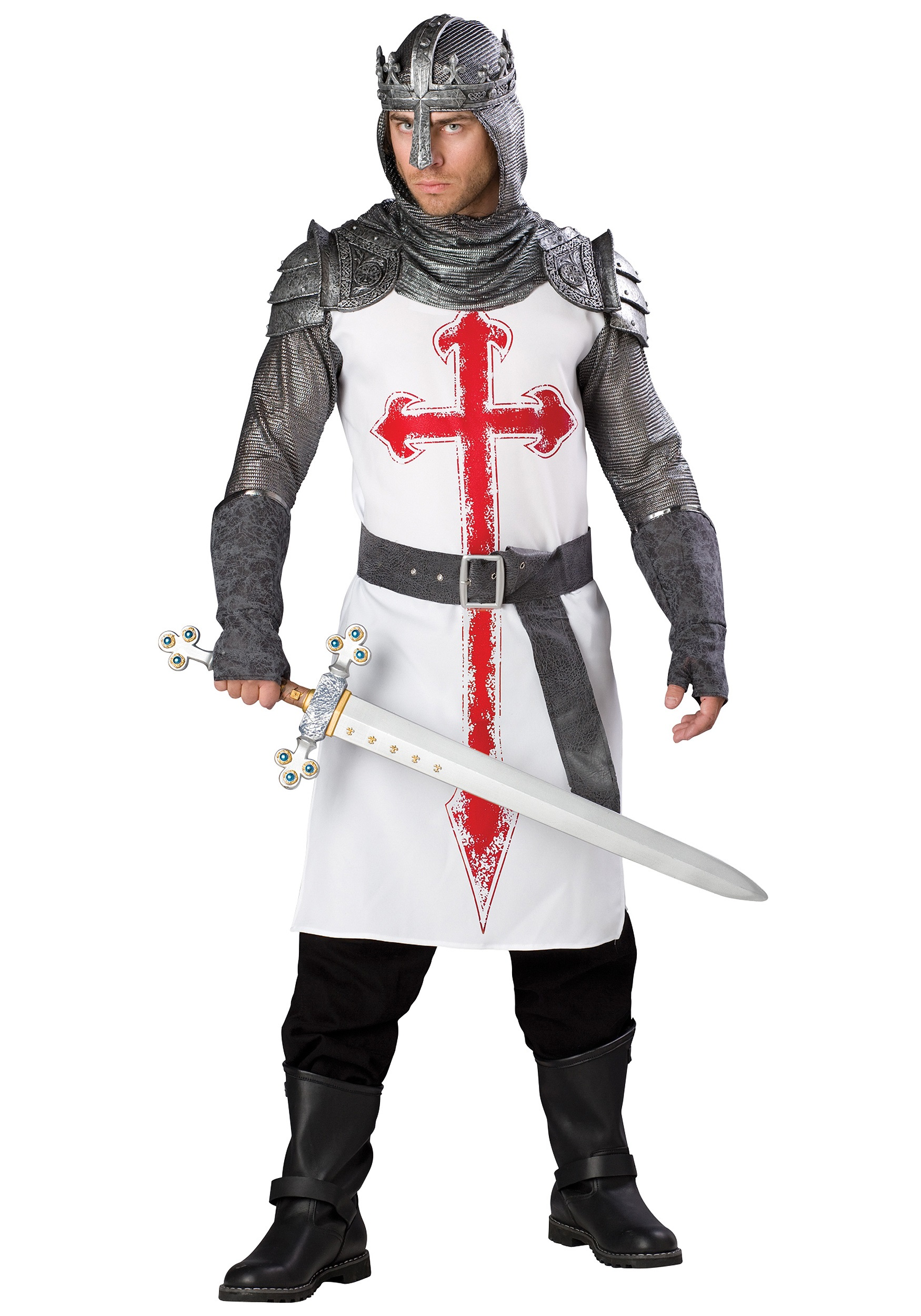 Deluxe Crusader Knight Costume for Men