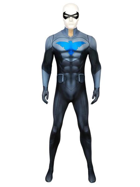 Milanoo Black Silver Cosplay Lycra Spandex Catsuits Zentai DC Comics Cosplay Costume