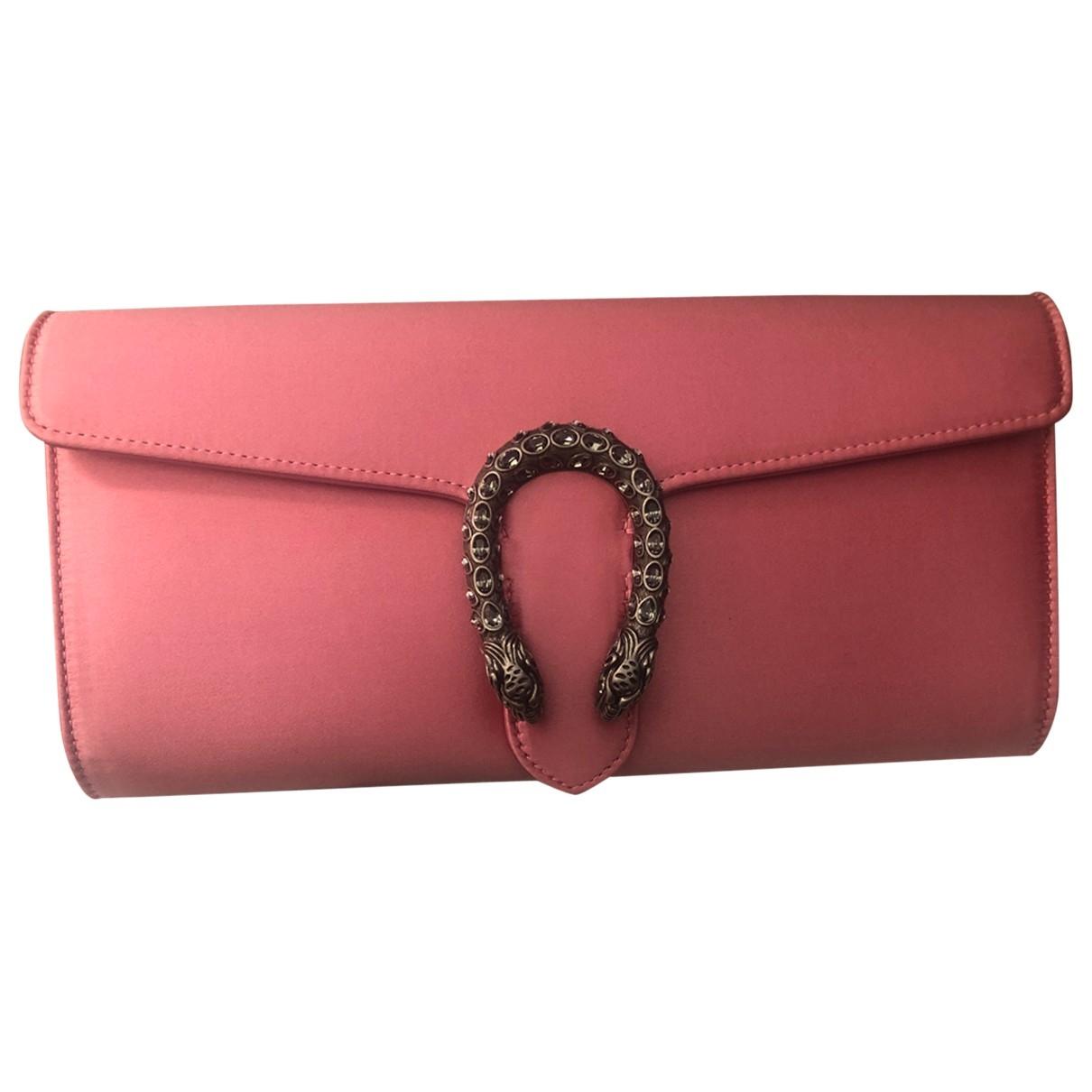Gucci Dionysus Pink Silk Clutch bag for Women \N