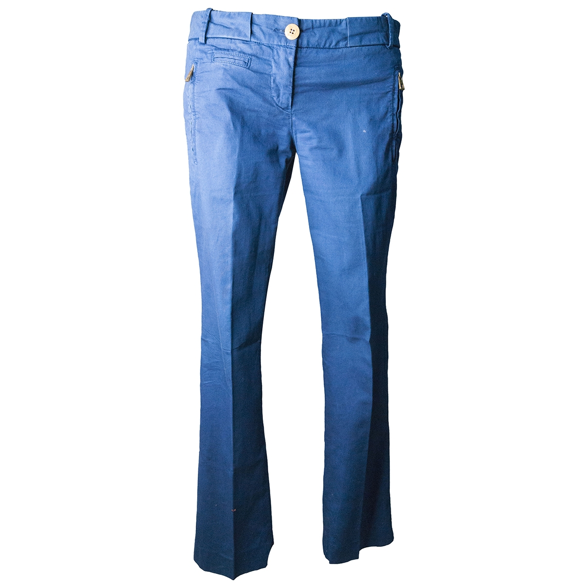Weber \N Blue Cotton Trousers for Women 42 IT