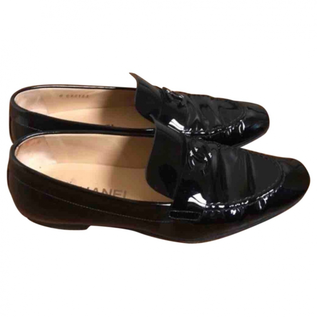 Chanel \N Black Patent leather Flats for Women 37 EU