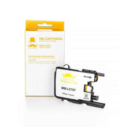 Compatible Brother MFC-J835DW Yellow Ink Cartridge by Moustache, High Yield