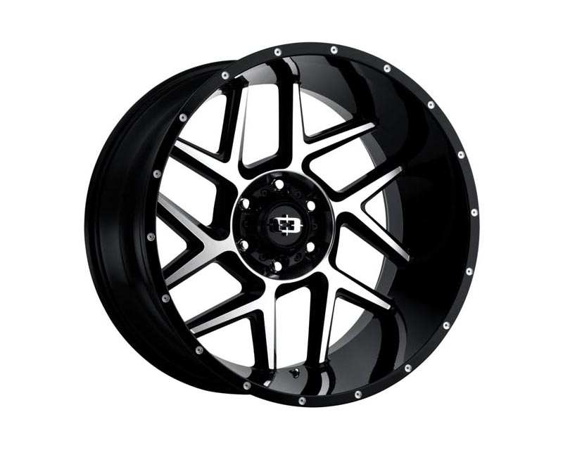 Vision Wheels 360-2970GBMF12 Sliver Wheel 20x9 8x1700 12 BKGLMS Gloss Black Machined Face