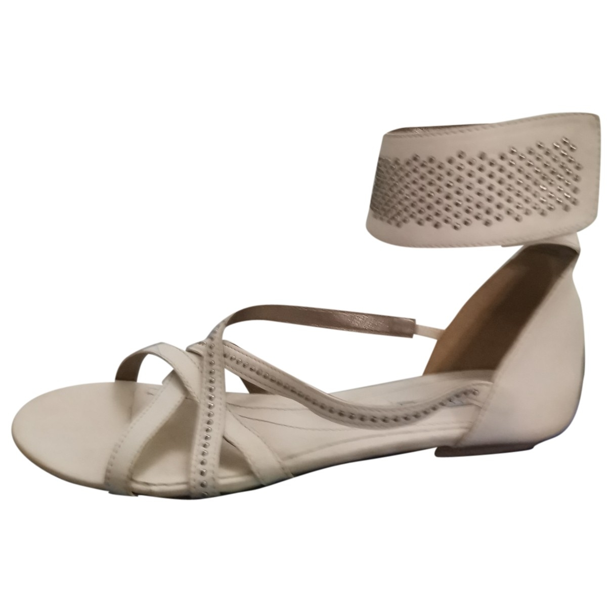 Vic Mati?? \N Beige Leather Sandals for Women 36 EU