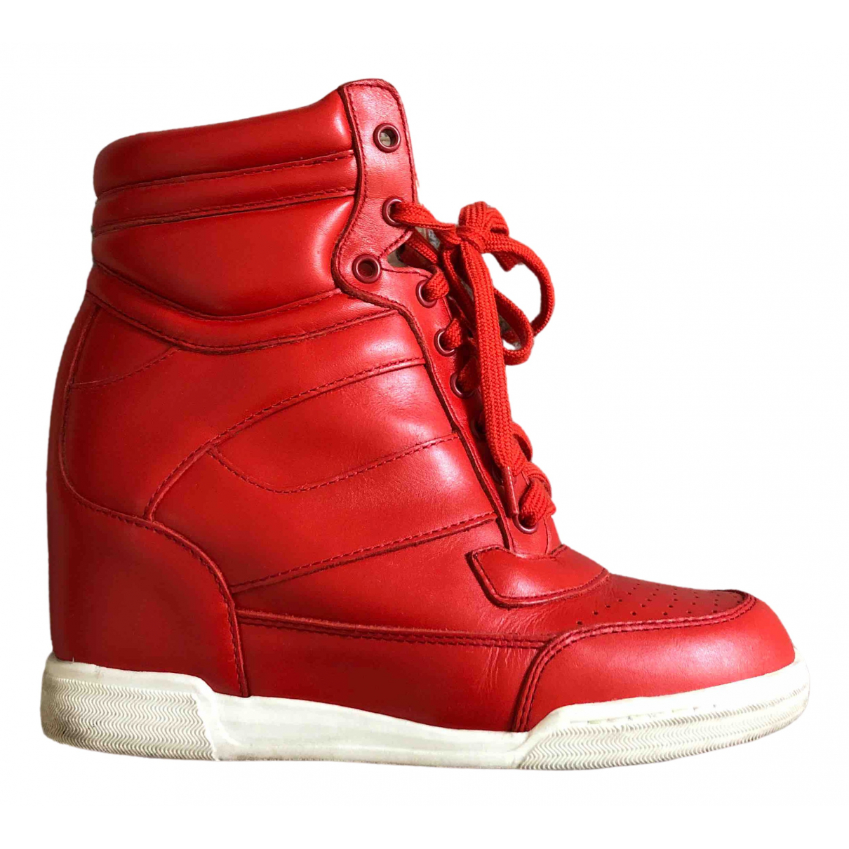 Marc By Marc Jacobs \N Red Leather Trainers for Women 5 UK