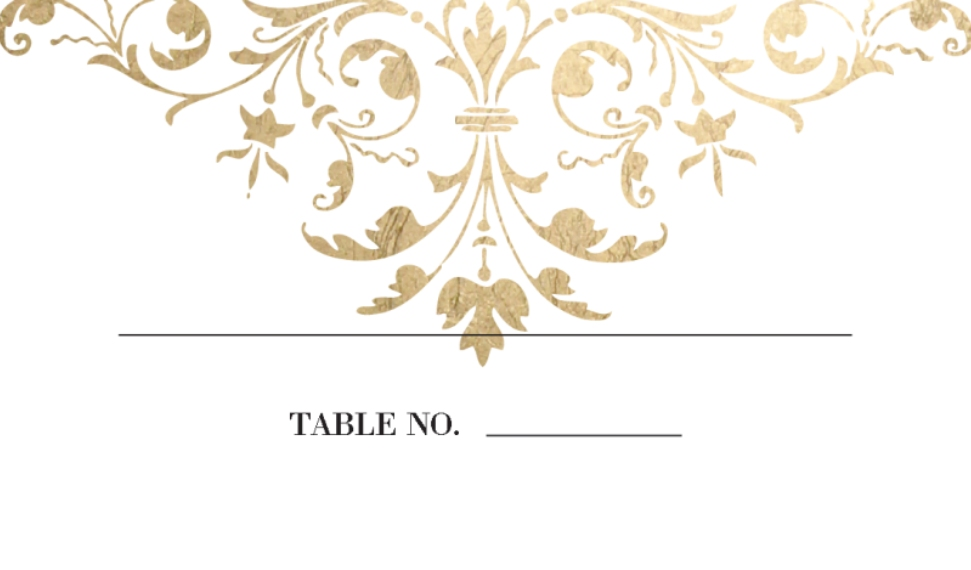 Placecards Business Cards, Set of 40, Card & Stationery -Wedding Place Card Ornate Scroll by Tumbalina
