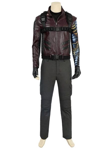 Milanoo Marvel Comics Marvel Comics Winter Soldier Bucky Barnes Cosplay Costume