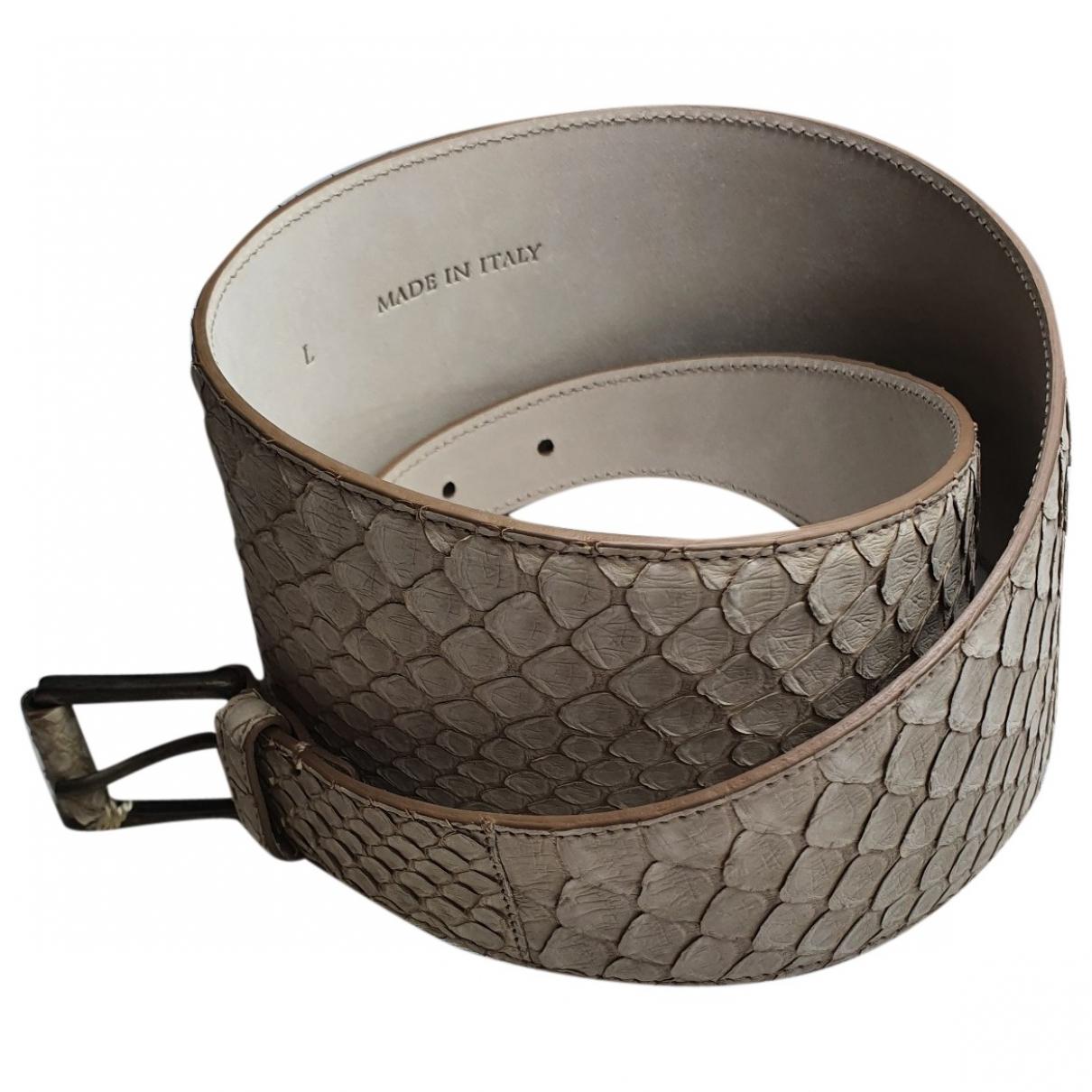 Brunello Cucinelli \N Beige Python belt for Women L International