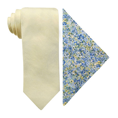 Stafford Tie Set, One Size , Yellow