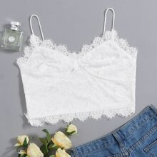 Eyelash Lace Crop Cami Top