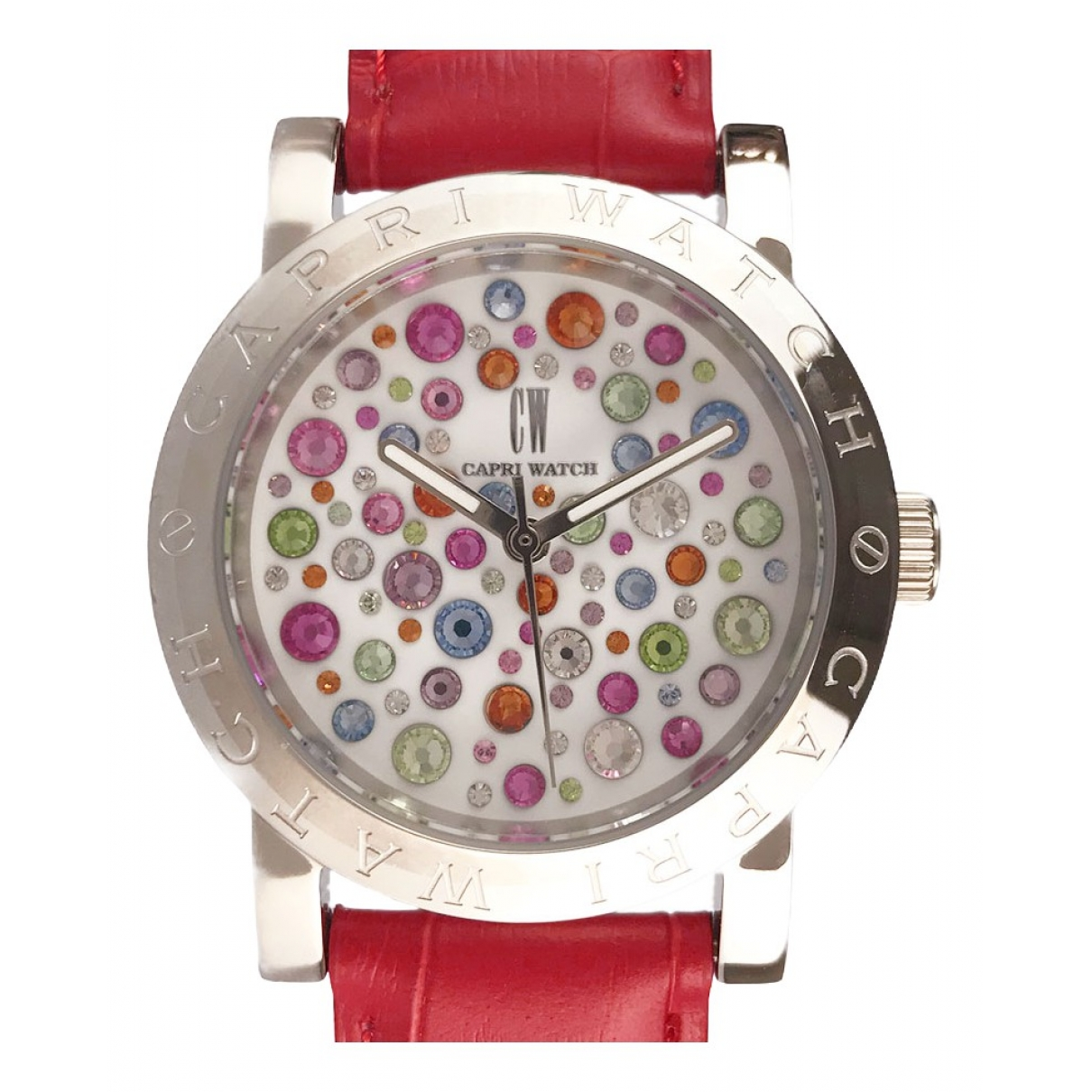 Non Signé / Unsigned \N White Steel watch for Women \N