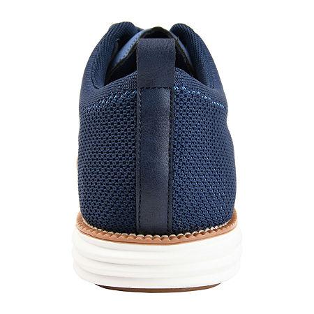 Vance Co Mens Ezra Round Toe Oxford Shoes, 11 Medium, Blue