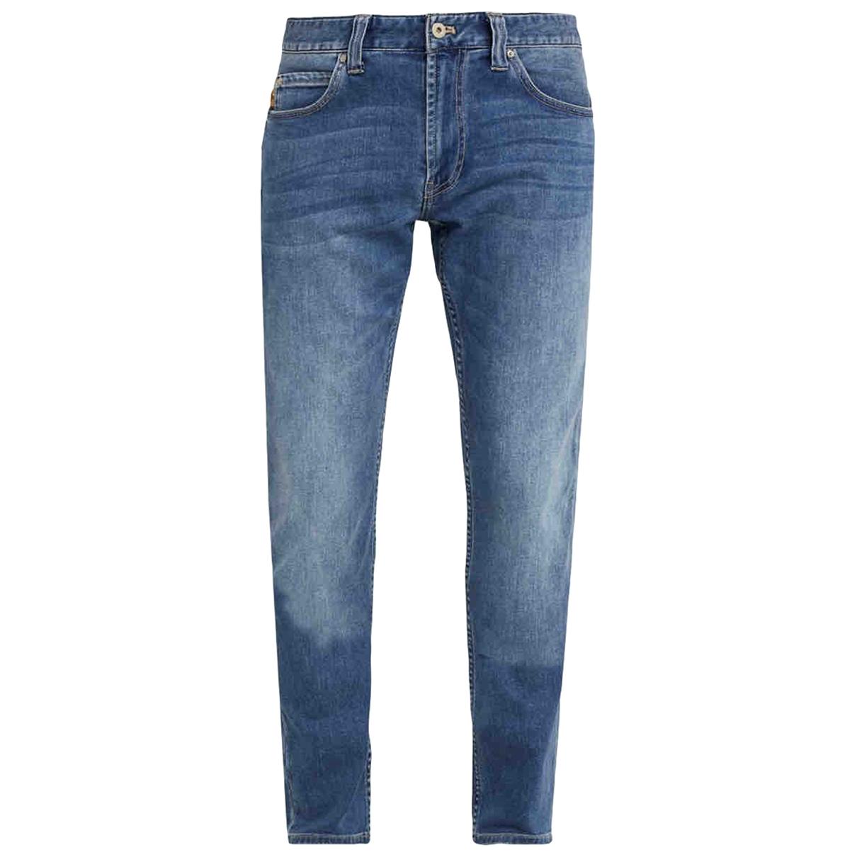 Emporio Armani \N Blue Cotton - elasthane Jeans for Men 33 US