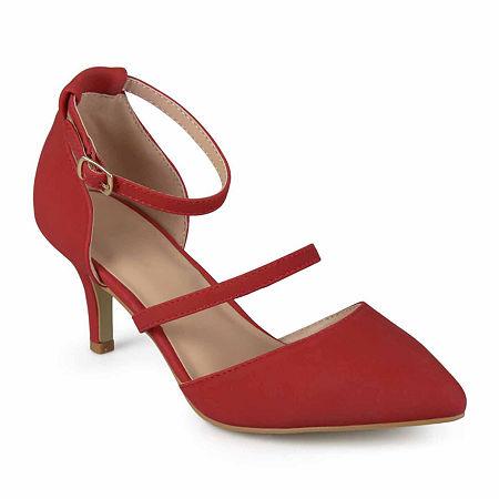 Journee Collection Womens Chaney Pumps Stiletto Heel, 9 Medium, Red