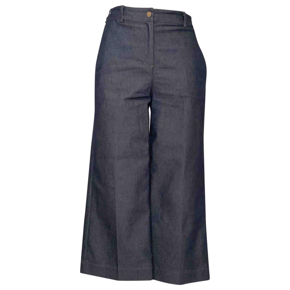 Liu.jo \N Blue Cotton Trousers for Women 38 IT