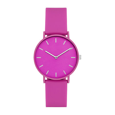 Womens Pink Strap Watch-Fmdjo161, One Size , No Color Family