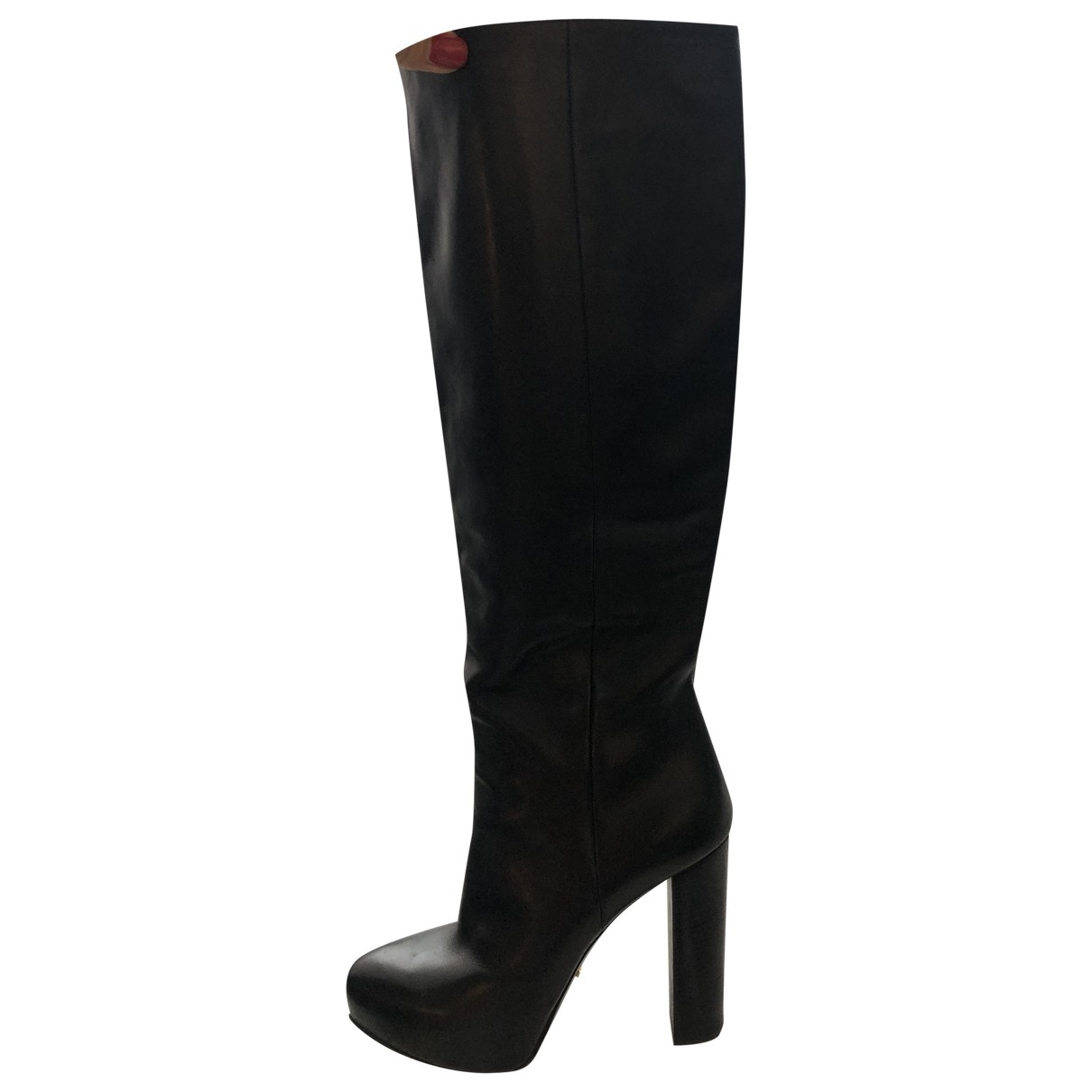Prada \N Black Leather Ankle boots for Women 40.5 EU
